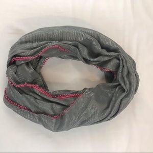 Hollister gray/pink infinity scarf